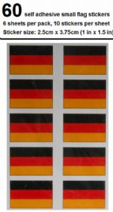 Germany Country Flag Stickers (pack of 60).